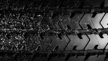 Detail Of A Car Tire Background.