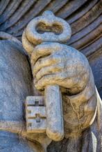 Detail An Der Kathedrale Von Girona, Spanien
