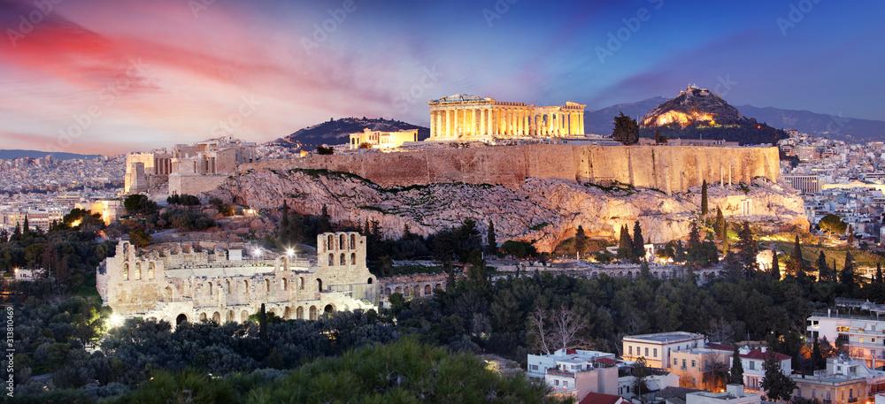 Fototapeta The Acropolis of Athens, Greece, with the Parthenon Temple