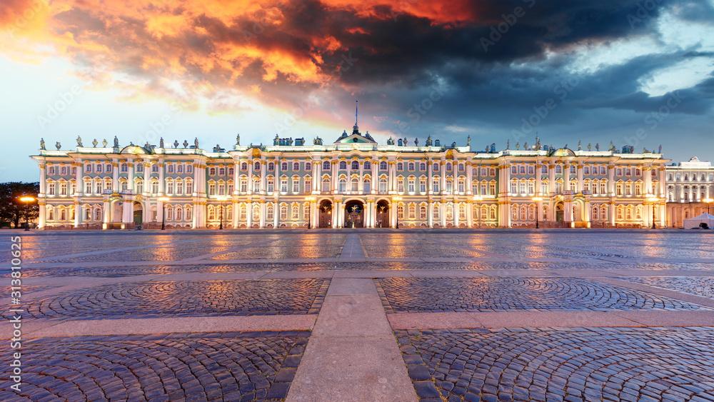 Fototapeta Winter Palace on Palace Square in Saint Petersburg, Russia