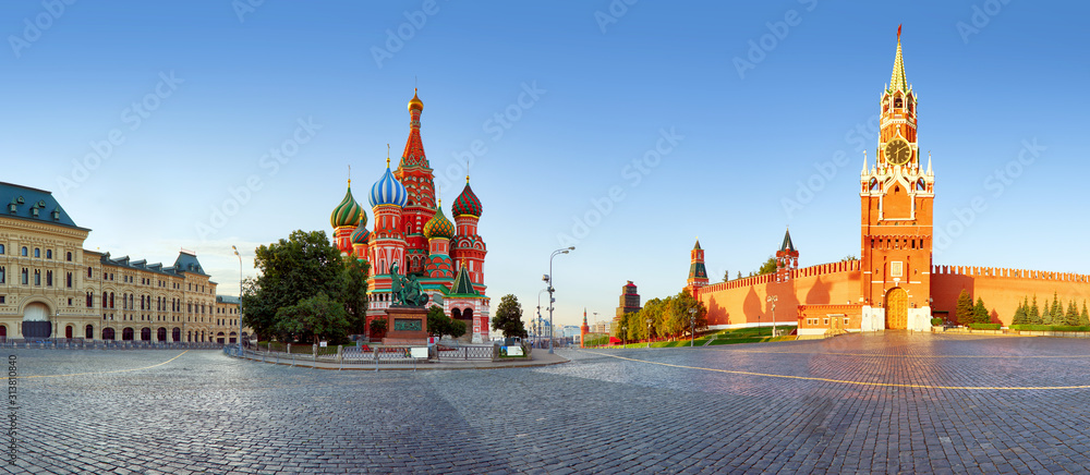 Fototapeta Moscow, St. Basil's Cathedral in Red square, Russia