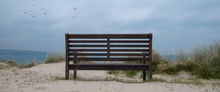 Bench In The Dunes Cornwall En...
