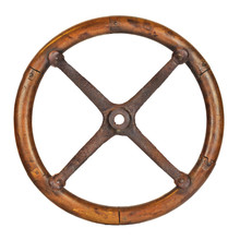 Antique Wooden Car Steering Wh...