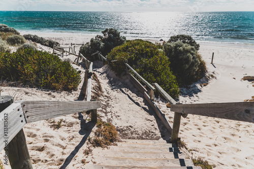 detail of Cottesloe Beach, one of the most iconic beaches near Perth Fototapet