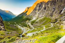 Trollstigen Mountain Road In N...