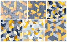 Seamless Cubes Vector Backgrou...