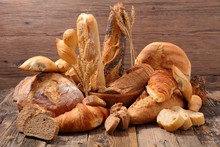 Assorted Of Bread And Pastry