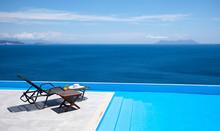 Infinity Pool With Chairs And ...
