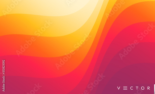 Abstract wavy background with curves lines. Concept of cover with dynamic effect. Vector illustration for design.