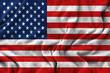 American flag - waving fabric texture background