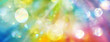 canvas print picture - Banner strahlenden Lichts in den Farben des Regenbogens