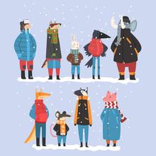 Animals Wearing Warm Clothes C...