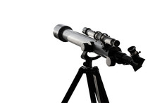 Telescope Isolated On A White ...