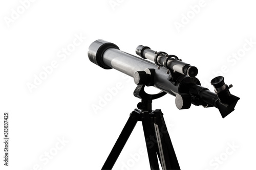 Fototapeta Telescope isolated on a white background obraz