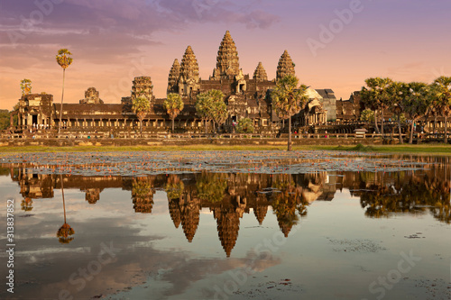 Photo famous temple in cambodia asia