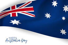 Happy Australia Day Poster Or Banner. National Holiday Background Design. Vector Illustration.