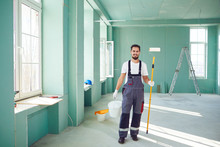 Bearded Painter Construction W...