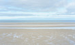 canvas print picture - Strand am Meer bei Ebbe