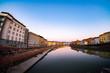 canvas print picture - Fluss Arno in Pisa