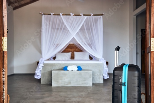 Luxury accommodation in tropical destination Canvas Print
