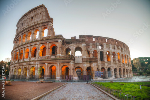 Fototapeta The Colosseum or Flavian Amphitheatre in Rome, Italy