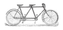 Old Bicycle - Tandem Bicycle /...