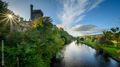 Lismore castle and blackwater river in Ireland Canvas Print