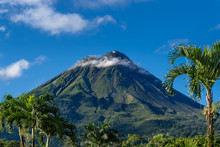 Costa Rica. The Arenal Volcano (Spanish: Volcan Arenal) In North-western Costa Rica In The Province Of Alajuela. It Is An Active Andesitic Stratovolcano.