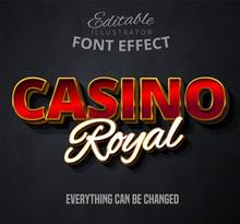 Casino Royal Text, Editable Font Effect
