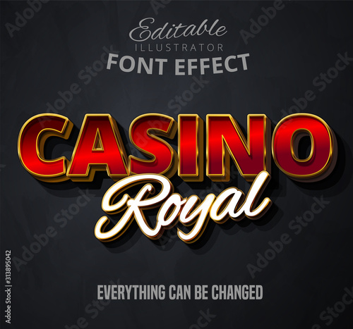 Leinwand Poster Casino royal text, editable font effect