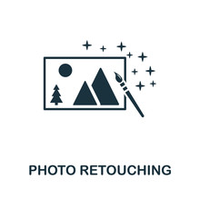 Photo Retouching Icon. Simple Element From Design Technology Collection. Filled Photo Retouching Icon For Templates, Infographics And More
