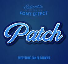Patch Text, Editable Font Effect