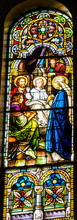 Jesus Teaching Temple Stained Glass Saint Mary's Catholic Church San Antonio Texas