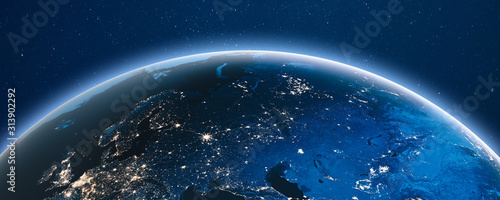 Earth from space Wallpaper Mural