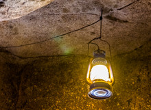 Retro Lantern Hanging On The R...