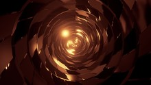 Abstract Round Tunnel With Brick Pattern Texture And Glowing Spheres 3d Illustration Background Wallpaper,