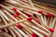 Group Of Wooden Matches