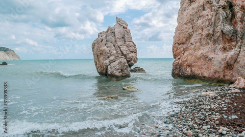 Big Stones in a beautiful mlra with waves Canvas Print