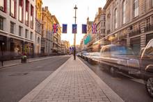 London's Regent Street At Late...