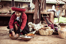 Local Weaver Woman In Traditio...