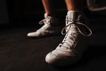 Closeup Of White Boxing Shoes ...