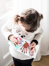 Girl Teaching Christmas Card