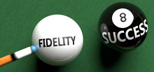 Fidelity Brings Success - Pictured As Word Fidelity On A Pool Ball, To Symbolize That Fidelity Can Initiate Success, 3d Illustration