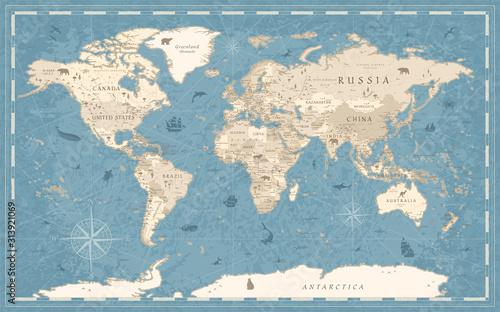 mapa-swiata-vintage-w-starym-stylu-wektor