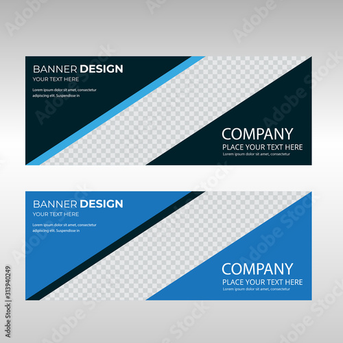 Fototapeta Corporate business sale banner template, horizontal advertising business banner layout template sign set , clean abstract facebook and social cover header design obraz