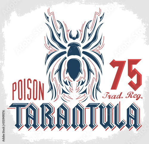 Tarantula vector design Sticker Shirt Print. Wallpaper Mural