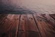 canvas print picture - Steg am Meer