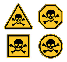 Different Yellow Warning Skull...