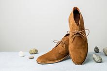 Fashion - Men's Camel Suede De...