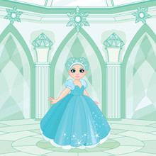 Cute Snow Queen Throne Room